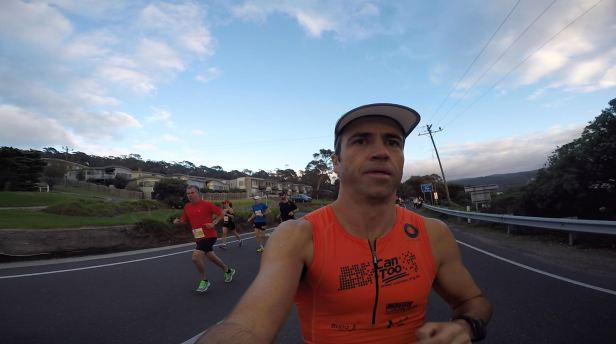 Selfie in the first kilometer.